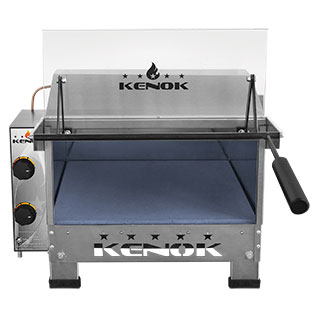 Gas oven with infra-red grill